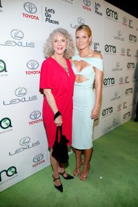 BURBANK, CA - OCTOBER 24:  Actress Blythe Danner (L) and honoree Gwyneth Paltrow attend the 25th annual EMA Awards presented by Toyota and Lexus and hosted by the Environmental Media Association at Warner Bros. Studios on October 24, 2015 in Burbank, California.  (Photo by Rich Polk/Getty Images for Environmental Media Awards)
